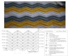 POINT FOR PLAID CROCHE zig-zag. FRIENDS LIKE? FOLLOW DETAILS - Crochet Designs Free