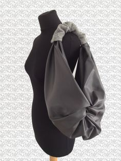 Dove-grey Furoshiki bag eco-leather by RiKrio on Etsy