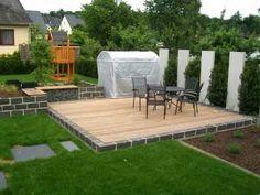 gartengestaltung – Google-Suche Outdoor Furniture Sets, Outdoor Decor, Deck, Patio, Landscape, Google, Home Decor, Modern Gardens, Country Landscaping