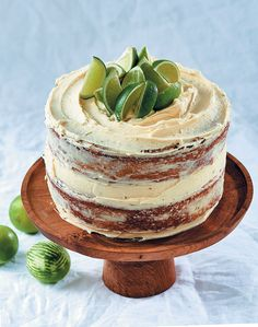 Juniper and lime cake with cream cheese icing Cream Cheese Icing, Cake With Cream Cheese, Lime Cake, Lime Wedge, Cake Icing, Cake Flour, Cake Plates, Coffee Cake, Homemade