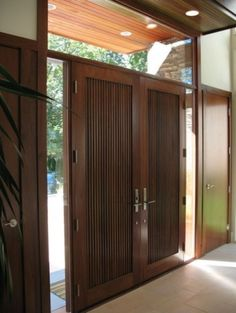 21 New Ideas Front Door Design Modern Hardware Contemporary Front Doors, Modern Front Door, House Front Door, House Doors, Modern Entry, Main Entrance Door, House Entrance, Entry Doors, Wood Doors