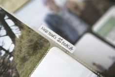 i've always love the little touches like tabs. be still my heart! #projectlife #aliedwards #beckyhiggins