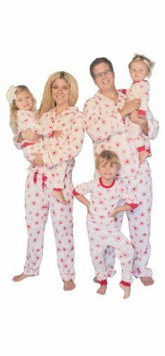 Matching Christmas  Pajamas  Red Snowflakes Matching Christmas Pajamas ba6479ab2