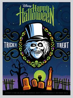 behance disneyland posters | Disney Halloween Posters