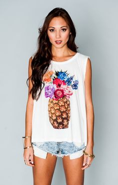 Jolo Tank - Big Pineapple Graphic | Show Me Your MuMu