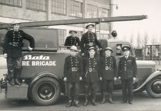 1945 Bata Factory Fire Brigade Skoda Fire Engine in East Tilbury, UK Bartlett School Of Architecture, Bata Shoes, New Television, Fire Fighters, Fire Engine, British History, British Isles, Tilbury, Fire Trucks