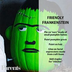 Friendly Frankenstein: Turn your best #pumpkin into a Halloween monster!