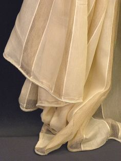 Beige linen stripes curtain Fabric 118 inches wide by Eleptolis, $30.80