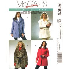 Womens Raglan Jacket Pattern McCalls 4975 by finickypatternshop