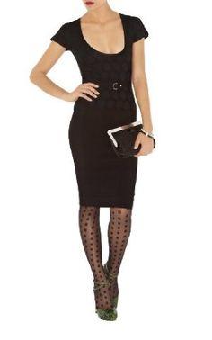 Karen MIllen - Knitted Polka Dot Dress