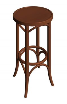 Antique Design Bentwood Thonet Chair Idea - When you have the new house, absolutely fill your house is the core thing that you have to do at your do list. You can fill your house with the furnit. Revit Family, Revit Architecture, Ad Home, Wood Bar Stools, Bent Wood, Backless, New Homes, Objects, Chair