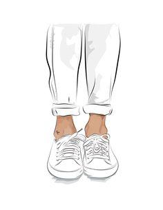 Chucks on Behance Fashion Illustration Sketches, Fashion Sketchbook, Fashion Design Sketches, Sneakers Sketch, Dress Design Drawing, Shoes Wallpaper, Fashion Templates, Fashion Figures, Shoe Art