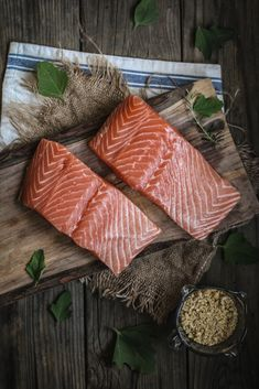 Baked Walnut & Rosemary Encrusted Salmon with Salted Brown Butter