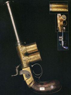 Percival & Smith Repeating Magazine Pistol, 1850.