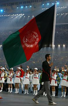 Afghanistan flag in Olympic, by msnsam