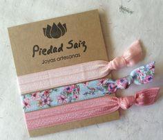 Pack  3 gomas elásticas, Hair ties, pulseras glam de Gemasymas por DaWanda.com