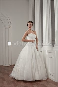 Beading A-Line Summer Sweetheart Floor-length Sweet Wedding Dresses