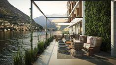 Un privilegiado hotel volcado al Lago Como, Il Sereno diseño de Patricia Urquiola.