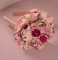 Cotten flower head band