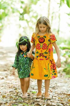 color and prints. #girls #fashion