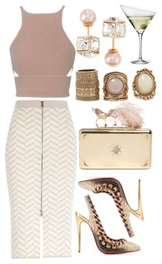 """""""Untitled #3769"""" by dudas2pinheiro ❤ liked on Polyvore featuring River Island, Jonathan Simkhai, Christian Louboutin, Forever 21, Alexander McQueen, Eva Solo and Vita Fede"""