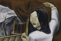 "Kuniyoshi remained true to America despite his shameful treatment.  ""Self-Portrait as a Photographer"", 1924, oil on canvas"