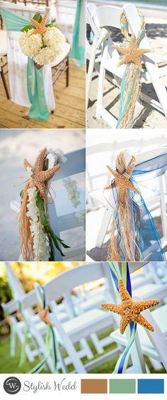 2017 summer beach wedding chair with starfish