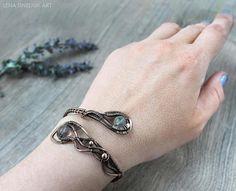 Wirewrap Bracelet Fluorite bracelet Handmade wire wrap