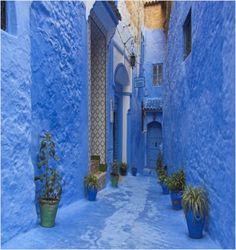 La ville de Chefchaouen dans la chaîne du Rif marocain