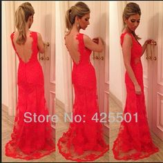 Lace prom dress 2014 - red prom dress / long evening dress / red evening dress / red formal dress / long formal dress / long red lace dress on Etsy, Red Lace Prom Dress, Prom Dress 2014, Lace Evening Dresses, Ball Dresses, Evening Gowns, Dress Up, Formal Dresses, Dresses 2014, Evening Party