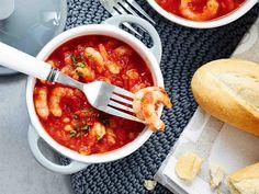Katkarapukasari - Reseptit Finnish Recipes, Chana Masala, Fine Dining, Deli, Cooking Tips, Risotto, Tapas, Seafood, Recipies