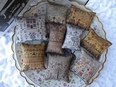 Printed sampler pillows - I thought these were fun