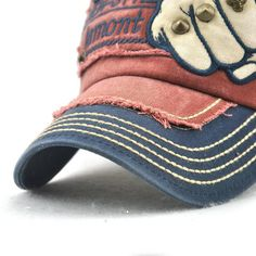 5b3196afc337f Mens Vogue Adjustable Denim Patch Baseball Cap Outdoor Sunshade Cap