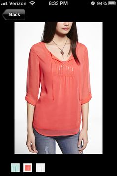 Want this top! Love the color and reminds me of a nice night out at the beach.