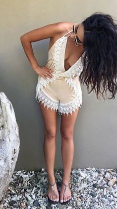 romper shay mitchell lace romper summer summer outfits nude