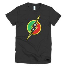 St. Kitts and Nevis Flash - Short sleeve women's t-shirt