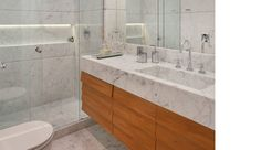 Studio 021 Arquitetura - banheiro - mármore - bathroom