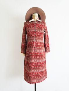1960's Tapestry Dress // vintage dress