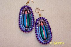 Native American Made-Dangle Earring by NavajoRainbowDesigns