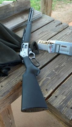 My ''Newest'' old gun; Marlin lever action in Winchester… Weapons Guns, Guns And Ammo, Henry Rifles, Armas Ninja, Winchester, Firearms, Shotguns, Revolvers, Hunting Rifles