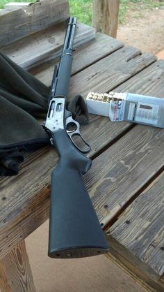 My ''Newest'' old gun; Marlin lever action in Winchester… Marlin Lever Action, Lever Action Rifles, Weapons Guns, Guns And Ammo, Henry Rifles, Winchester, Armas Ninja, Hunting Rifles, Cool Guns