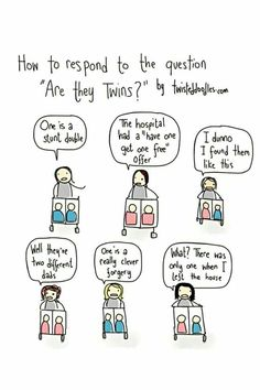 Being a twin mom, you are asked a lot of questions everywhere you go and from absolutely anyone. These are the top 10 questions asked about twins. Funny Memes, Hilarious, Jokes, It's Funny, Meme Meme, Funniest Memes, Twins Meme, Twin Humor, Frases