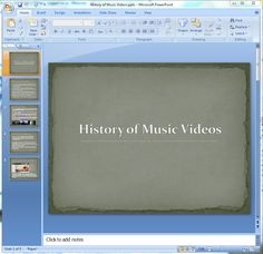 PowerPoint - I have used powerpoint to display information about a large subject I am researching. This is another form of expressing information to an audience and I  found it very helpful and easy to use because I have been using it a lot through school.