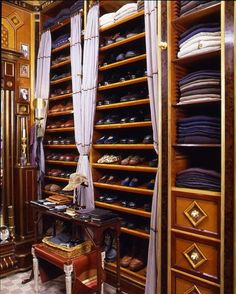 Gentleman's closet in perfect order