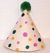 How to Make a Simple Clown Hat Clown Hat Craft - to go with the nose?