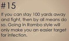 Zombie Apocalypse Survival Tip #15