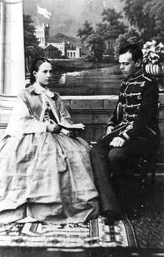 Future Tsar Alexander III and Eugenie Maximilianovna of Leuchtenberg, daughter of Grand Duchess Maria Nicholaevna , later Duchess of Oldenburg - photo tour