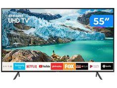 "Smart TV 4K LED 55"" Samsung UN55RU7100GXZD - Wi-Fi Bluetooth HDR 3 HDMI 2 USB - Magazine Mandinha Samsung Uhd Tv, Samsung Galaxy, Bluetooth, Usb, Tv Philips, Smart Tv 4k, Tv Led, Wi Fi, Operating System"