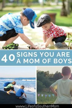 Being a mom of boys comes with many joys and quirks. You hear and see things that maybe you never thought. Here are 40 signs you are a mom of boys. Parenting Articles, Parenting Teens, Parenting Hacks, Signs For Mom, Advice For New Moms, Raising Boys, Christian Parenting, Mom Blogs, Mummy Bloggers