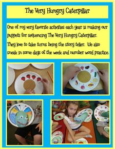Sequencing & Storytelling Activity for The Very Hungry Caterpillar (from Golden Gang Kindergarten)